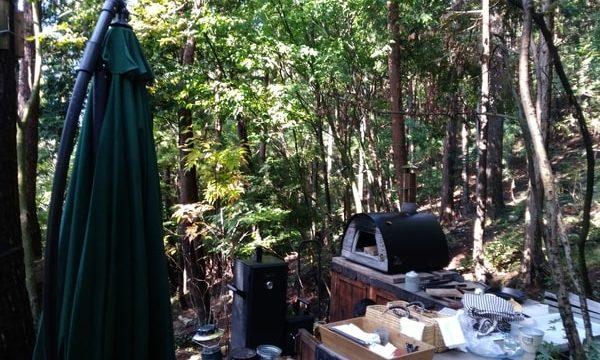 森の中で作る朝食は絶品