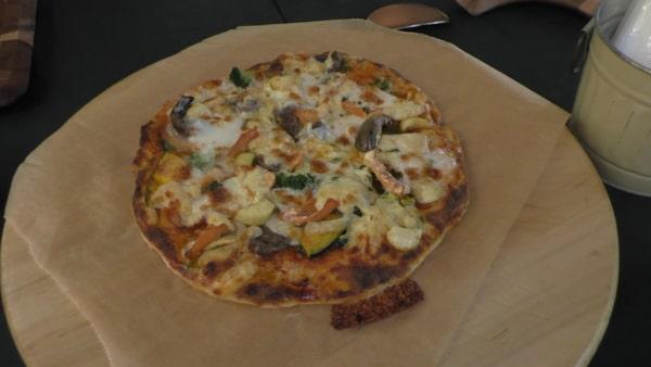 焼きあがったピザ。本当においしい