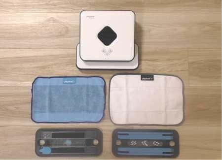 2つのモード用に、専用のクロスとパッドが1つずつ付属されている