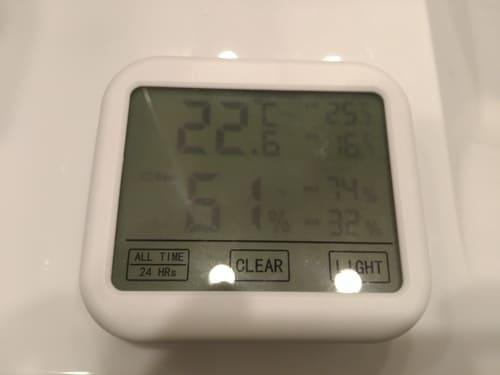 温度・湿度計