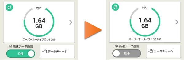 ※設定は楽天モバイルスマホアプリから簡単に変更できます。