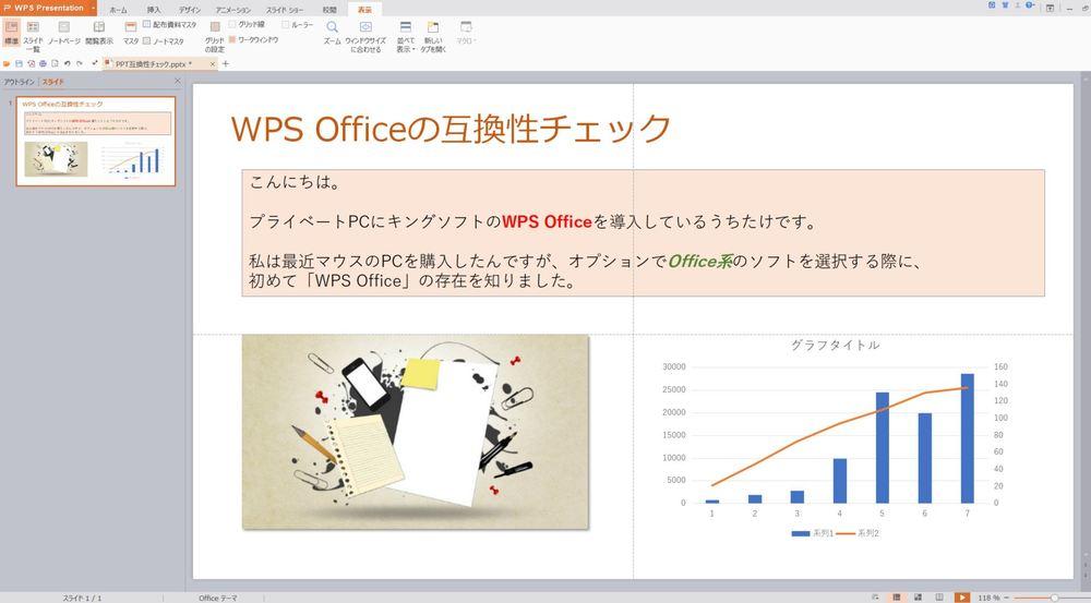 こちらがWPS Presentation