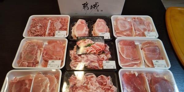 都城市の返礼品の豚肉。半端ない量