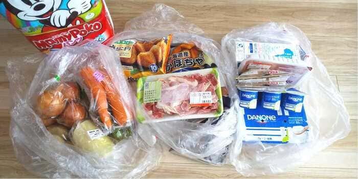 野菜や肉、トイレットペーパーやオムツなどの日用品が宅配されるので便利