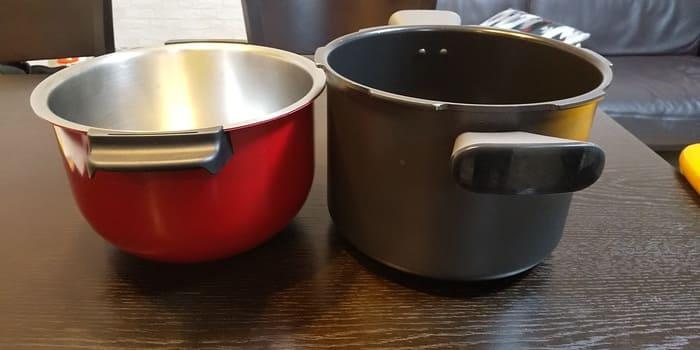 鍋はひとまわりクックフォーミーの方が大きい