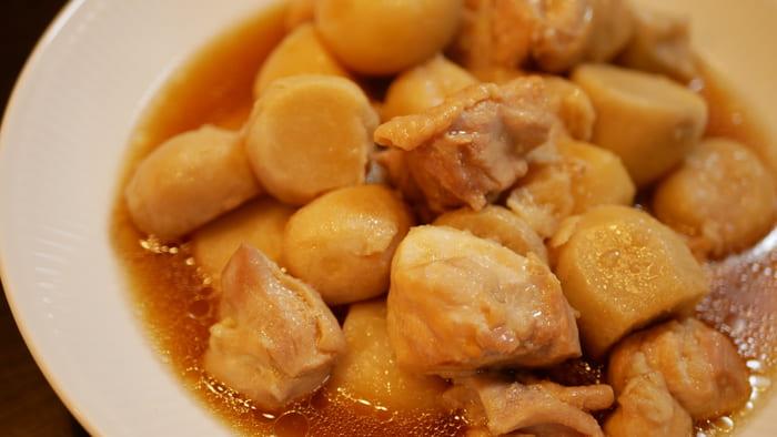 クックフォーミーで作った里芋と鶏肉の煮もの