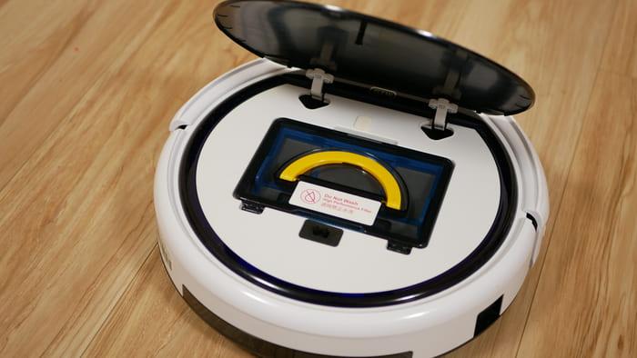 ILIFE「V5sPro」ダストボックスを装着したところ