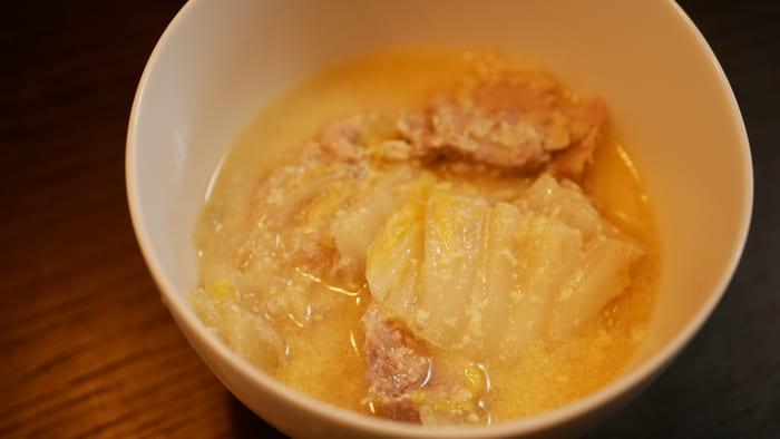 パナソニック電気圧力鍋「SR-MP300」で作った白菜と豚バラのミルフィーユ豆乳煮込み