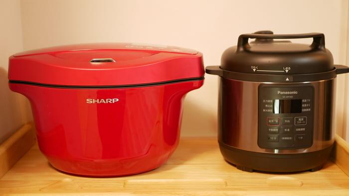 ホットクックとパナソニック電気圧力鍋「SR-MP300」の比較