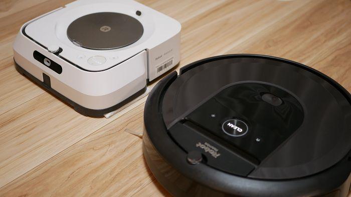 ルンバi7+と床拭きロボット「ブラーバジェットm6」は連動して掃除ができる