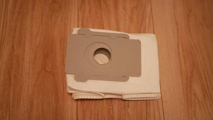 クリーンボックス内に入れる密封型紙パック。このパックにゴミがたまります