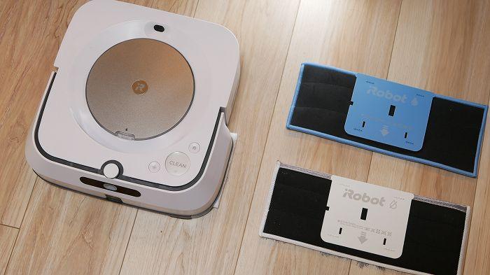 ブラーバジェットm6の床拭き専用パッド(水拭き、から拭き)
