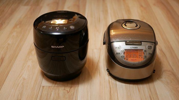 ホットクック「KN-HW10E」と炊飯器の比較