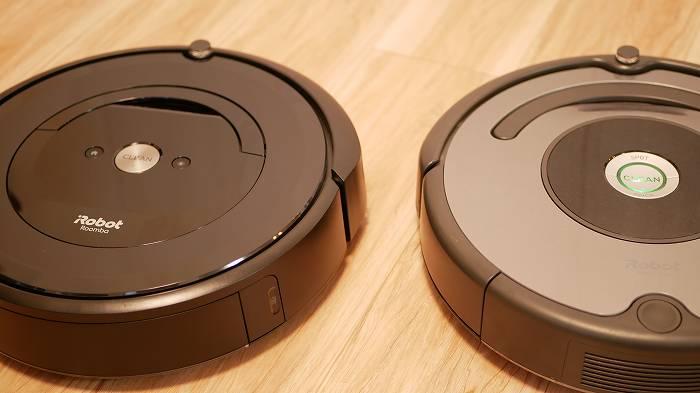 ルンバe5(左)とルンバ643(右)