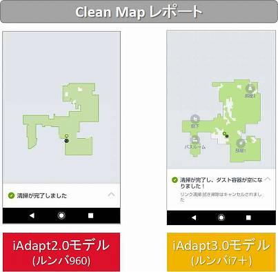 ルンバ960とルンバi7+のClean Mapレポート