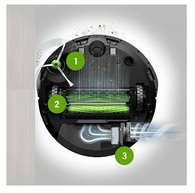 ルンバi7シリーズはモーターユニットがパワーアップしてさらに吸引力がアップ