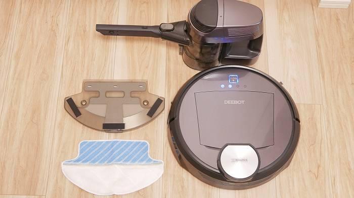 ロボット掃除機、水拭き、ハンディ掃除機の1台で3役